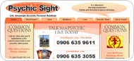 Website Design for Psychic Sight